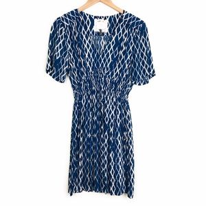 HD IN PARIS Blue Archipelago Patterned Dress